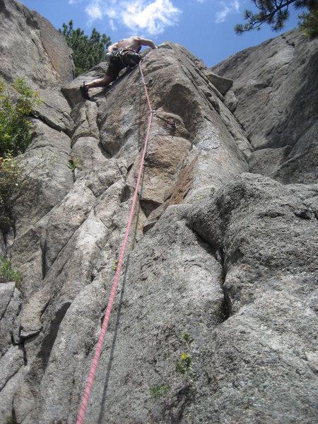 Rock Climbing Photo: On lead.