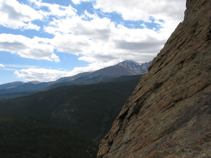 Rock Climbing Photo: View of Long's Peak from Middle Toe.