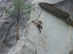 Rock Climbing Photo: Me Posing if you will on the crux of the climb.