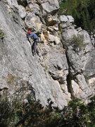 Rock Climbing Photo: Perin Blanchard on Full Nelson.  Photo by John Ros...