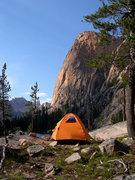 Rock Climbing Photo: Camp below The Elephant's Perch.