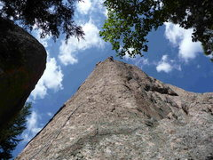 Rock Climbing Photo: Photo of Abbot's Arrete showing most of the route.