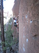 Rock Climbing Photo: Into the good buckets past the first bolt on Back ...