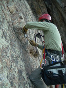 Rock Climbing Photo: Rebolting I'm Not Lichen This in August, 2008.  Ph...