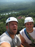 Rock Climbing Photo: Me and Ev