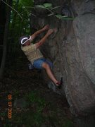 Rock Climbing Photo: Felt like 5.10.  I don't know how to grade boulder...