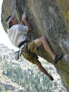 Rock Climbing Photo: Mason sending a classic!