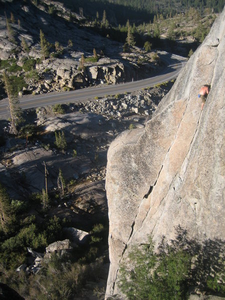 Rock Climbing Photo: Staying composed on the free solo