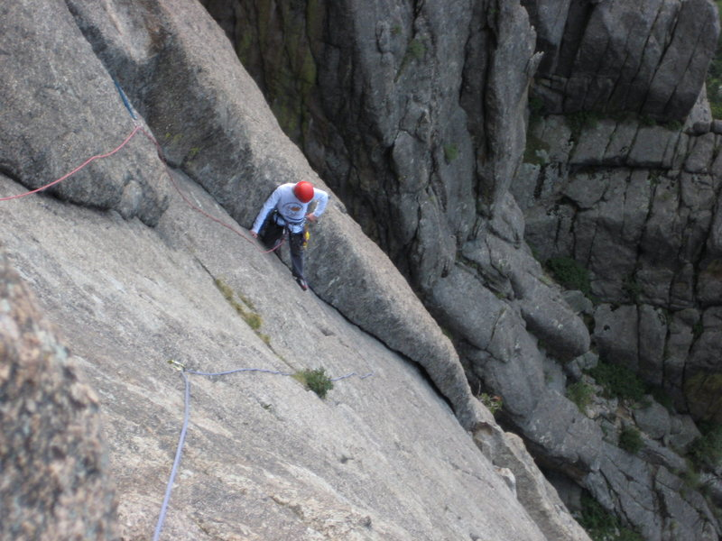 Rock Climbing Photo: P2: Kody, where you have to trust feet and look ar...