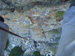 Rock Climbing Photo: Looking down from the top of Redrum.