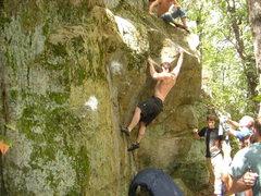 Rock Climbing Photo: Sweaty- getting it.