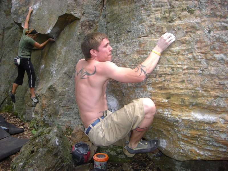 Rock Climbing Photo: Dobbe came so close to sending this weekend.