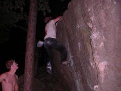 Rock Climbing Photo: Vince doing 26 dynos for his 25th birthday challen...