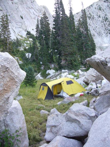 Rock Climbing Photo: Campsite at the Cirque