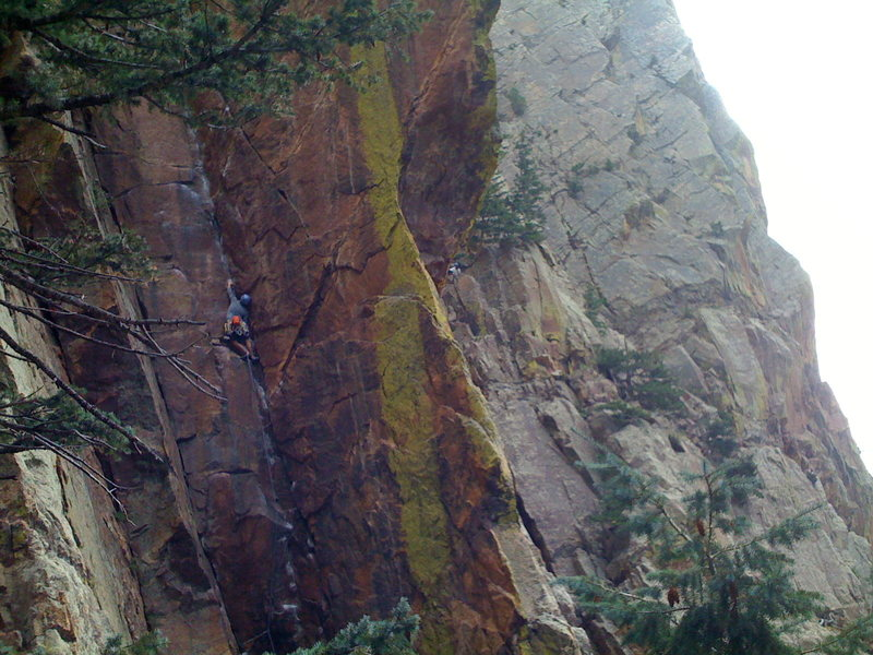Rock Climbing Photo: Simone leading Darkness 'til Dawn.