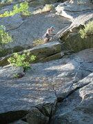 Rock Climbing Photo: Dave Martin climbing P1 with the fun dihedral abov...