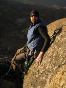Rock Climbing Photo: Summit of Cloak of the Wolf, Sheeprock. FA May 200...