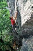 Rock Climbing Photo: Devils Lake. Henning Boldt on Debauchery.