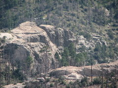 Rock Climbing Photo: Shot of Munchkinland taken from the top of the Out...