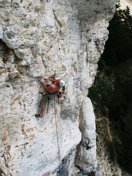 Rock Climbing Photo: BOBBY GRAY HIGH IN THE SKY