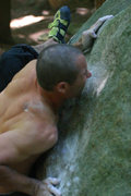 Rock Climbing Photo: a climber i dont know getting VERY close to sendin...