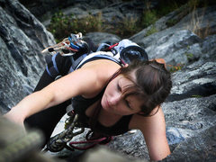 Rock Climbing Photo: Meghan loves the Gunks.  The first pitch of High E...