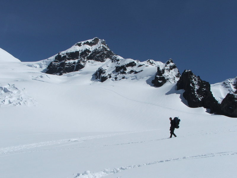 Just above camp on the Deming Glacier