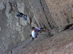 Rock Climbing Photo: Joe on his way up.