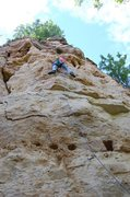 Rock Climbing Photo: straight up the middle