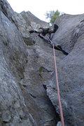 Rock Climbing Photo: P2, Dod's Jam (the FUN off-width corner start)