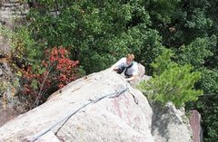 """Rock Climbing Photo: Tom Mulholland on the upper section of """"Innoc..."""