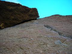 Rock Climbing Photo: Start of pitch three (or pitch 2 if first belay wa...