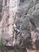 Rock Climbing Photo: Carina Eady-Toledo sending Spinal Tap