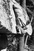 Rock Climbing Photo: Jakob on what i call the best problem in NH... Ove...