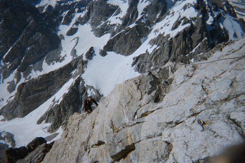 Rock Climbing Photo: Climbing on Upper Exum