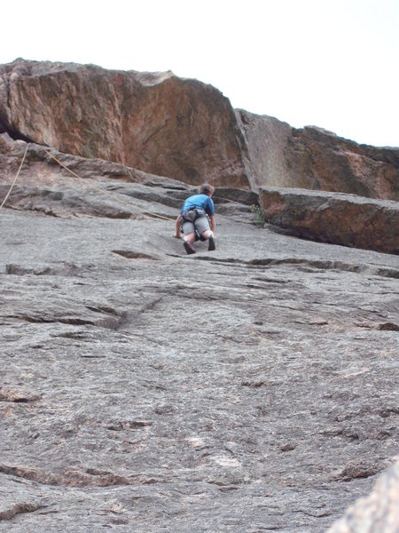 Rock Climbing Photo: Look for bolts right of MG.  They are hard to see,...
