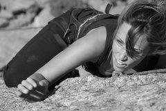 Rock Climbing Photo: Halley at top of Ho Hum.