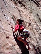 Rock Climbing Photo: Morgan Luke learning on Pikes Peak.