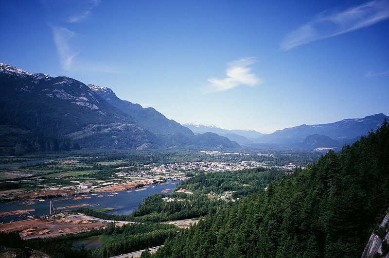 Rock Climbing Photo: Squamish Town from the Big Chief. Photo by Tony Bu...