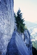Rock Climbing Photo: Not a great shot, but you can see what the travers...