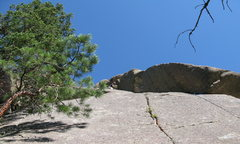 Rock Climbing Photo: This is about the point I traversed left on the le...