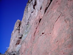 Rock Climbing Photo: Looking up at the beginning of Lance.