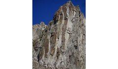 Rock Climbing Photo: Topo for King Thistle