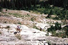 Rock Climbing Photo: Scramble to base