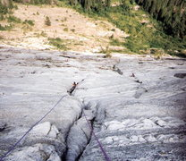 Rock Climbing Photo: Belaying both girls up same time  middle pitches. ...