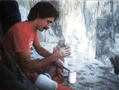 Rock Climbing Photo: What happens when everyone forgot the can opener? ...