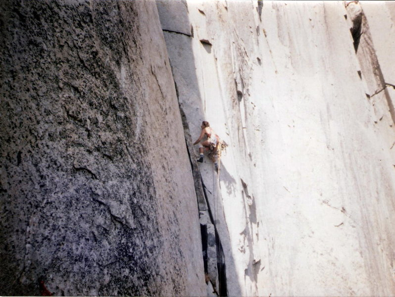 Rock Climbing Photo: Leading off Dolt Tower