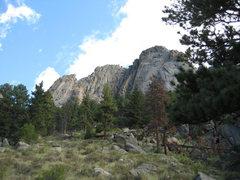 Rock Climbing Photo: The Book - Lumpy Ridge. Osiris crack route visible...
