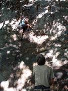 Rock Climbing Photo: Lindsey climbing Gravity Boots.