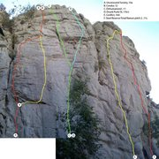 Rock Climbing Photo: Photoshop stitch-together. Lots of foreshortening,...
